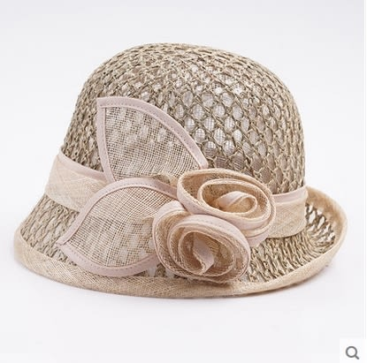 麻紗遮陽帽韓版太陽帽英倫復古宴會禮帽  -charle00561