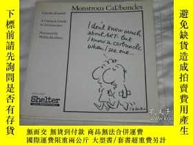 二手書博民逛書店Monstrous罕見Carbuncles : A Cartoo