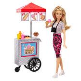 芭比 BARBIE 芭比粉紅護照熱狗餐車組