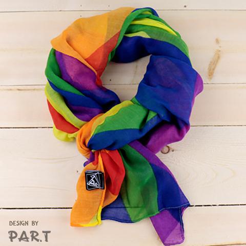 【PAR.T】六色彩虹大圍巾