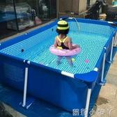 泳池大型支架游泳池兒童家用加厚超大號成人泳池家庭戶外水上樂園魚池 NMS蘿莉小腳丫