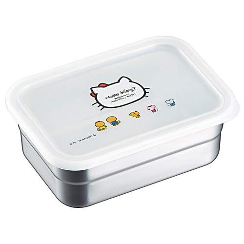 HELLO KITTY不鏽鋼食物保鮮收納盒(850ml)★funbox★SKATER_S42453