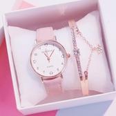 手錶手錶女年新款學生韓版簡約潮流可愛櫻花粉少女閨蜜
