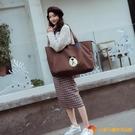 帆布手提包旅行包袋可愛大容量女手帆布袋子便攜【小獅子】