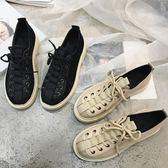 英倫風小皮鞋女鞋春季2018新款韓版休閒復古學院風牛津鞋平底單鞋