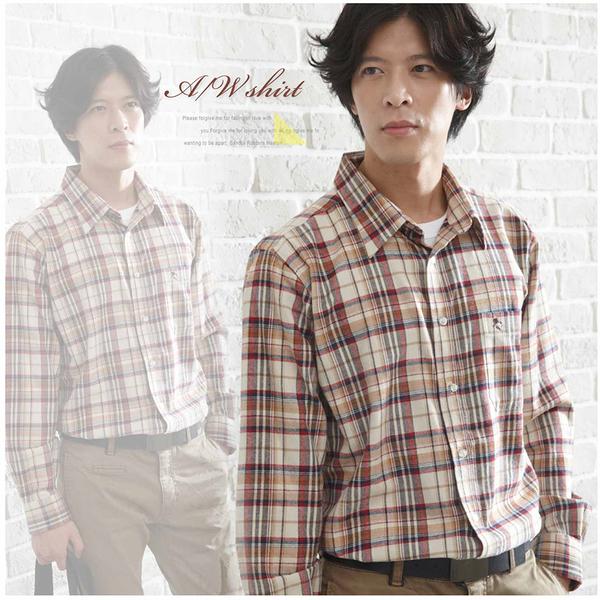 【大盤大】(S31512)男 純棉 長袖襯衫 格子休閒襯衫 厚地 父親節 教師節 情人節 shirt 加大尺碼