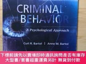 二手書博民逛書店Criminal罕見Behavior A Psychological Approach, Eleventh Edi