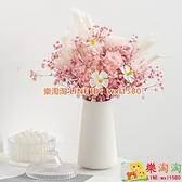 滿天星花瓶擺件北歐花藝輕奢客廳家居桌面干花花束插花裝飾品【樂淘淘】