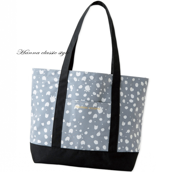 《花花創意会社》TSUMORI 外流。灰藍猫臉印花防水揹包 【H4656】