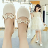 女童鞋子公主鞋兒童皮鞋小女孩單鞋中大童軟底豆豆鞋【淘嘟嘟】