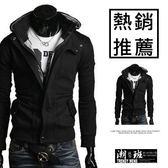 『潮段班』【HJ100901】新款折扣韓版連帽拉絨素面情侶外套