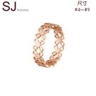 素簡手作《RG024》韓版18k玫瑰金尾戒 玫瑰金戒指 女戒 鋯石戒指
