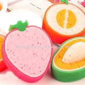 【超取399免運】韓國誘人水果款加厚海綿百潔布 強力去污洗碗海棉 擦抹布