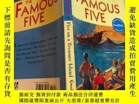 二手書博民逛書店the罕見famous five 五個著名的故事Y200392