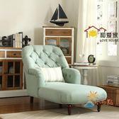 85折免運-貴妃椅美式布藝貴妃椅客廳轉角貴妃榻美人靠沙發簡歐式臥室陽台懶人躺椅WY