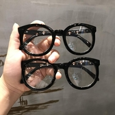 黑色粗框眼鏡框網紅款韓版復古文藝素顏型平光眼鏡框女大圓臉顯瘦