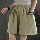 闊腿短褲女2021夏季新款休閒寬鬆顯瘦百搭純棉學生直筒五分褲子女 黛尼時尚精品