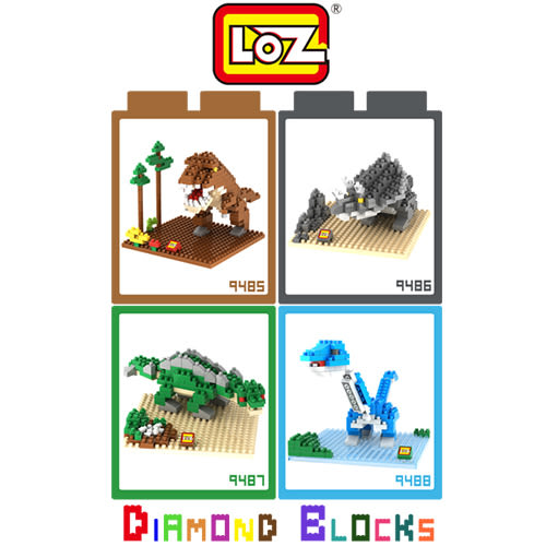 LOZ 迷你鑽石小積木 侏儸紀公園 樂高式 組合玩具 益智玩具 原廠正版