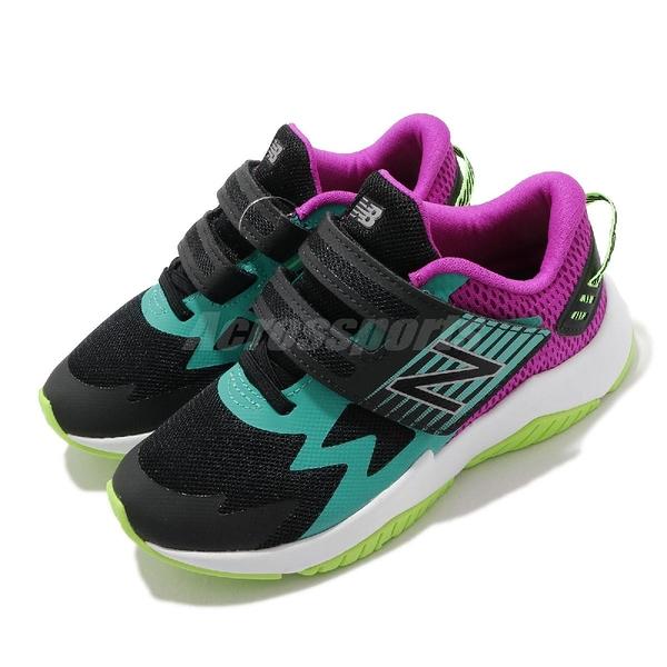 New Balance 慢跑鞋 Rave Run 寬楦頭 黑 綠 童鞋 中童鞋 4-7歲 運動鞋 【ACS】 PTRAVBM1W