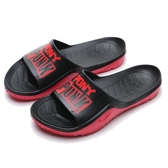 PONY PARK X 黑紅 PUNK 防水 膠拖 拖鞋 男女 (布魯克林) 03U1FL01BK
