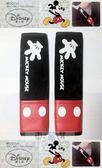車之嚴選 cars_go 汽車用品【WDC104】日本 NAPOLEX Disney 米奇安全帶絨布皮質舒適保護套 2入組