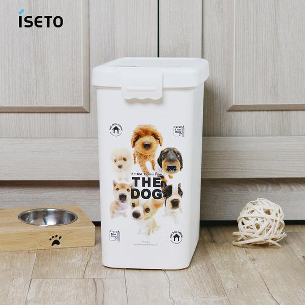 日本ISETO 寵物飼料零食密封收納桶-13L