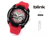 【完全計時】JAGA 捷卡 blink AD1014-GG 撼動運動型多功能電子錶 火焰紅 48mm 禮物型男首選 矽膠