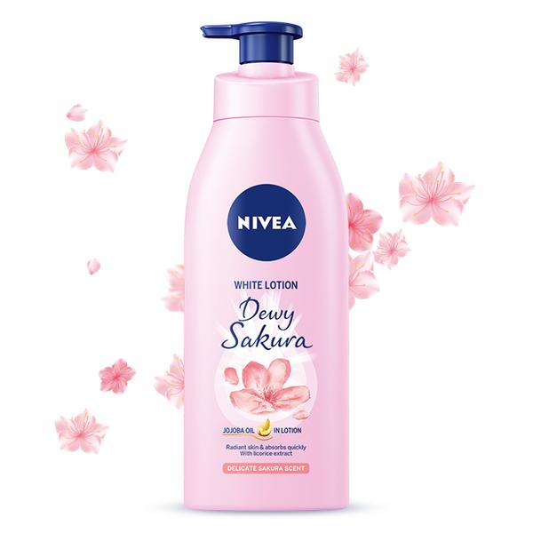 妮維雅 粉嫩嫩潤白水凝乳- 櫻花香 350ml