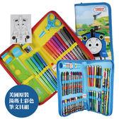 嬰兒 玩具 安撫玩具【KA0092】美國原裝湯瑪士繪畫文具二件組-彩色筆+蠟筆+鉛筆 幼兒園 寶寶