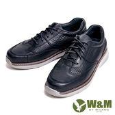 【W&M】輕量減壓系列 透氣孔休閒 男鞋-黑(另有咖)