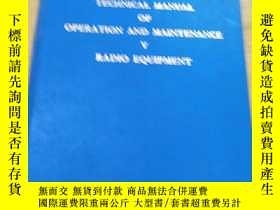 二手書博民逛書店A5罕見Ⅲ AIRCRAFT TECHNICAL MANUAL OF OPERATION AND MAINTENA