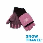 [SNOW TRAVEL] AR-47 / WINDBLOC防風保暖半指兩用手套/粉/M號