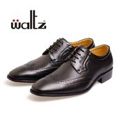 Waltz-時尚壓紋紳仕德比鞋 212109-02(黑)