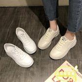 ins超火的鞋子女春新款百搭學生平底小白鞋山本風網紅智熏鞋