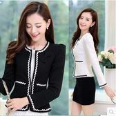 新款潮韓版短外套時尚小西裝大碼修身顯瘦女圓領開衫披肩『櫻花小屋』