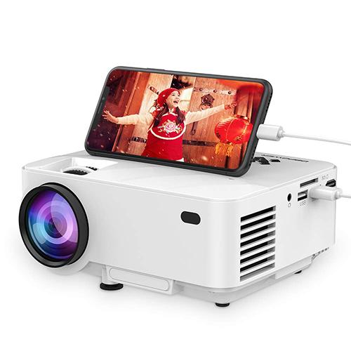 DBPOWER【日本代購】 迷你投影機2400  lm可連接手機1080P