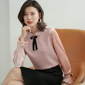 金絲絨長袖針織衫娃娃領上衣喇叭袖(三色M-2XL可選)/設計家 ZY3521