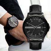 【人文行旅】A/X Armani Exchange   亞曼尼 AX2400 格子壓紋時尚都會腕錶