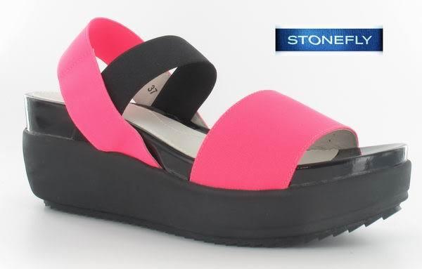 義大利 STONEFLY SKY 5 絲凱名模款厚底涼鞋 106590 性感桃R06 UK35~39