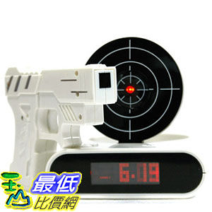 _a@[玉山最低比價網] GUN ALARM CLOCK 射擊鬧鐘 懶人鬧鐘 780493_JA04