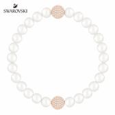 施華洛世奇 Remix Collection 玫金色優雅水晶白珍珠飾鏈