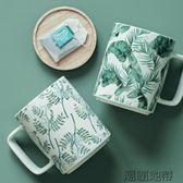 cybil北歐INS大容量陶瓷早餐杯馬克杯居家辦公室綠色植物情侶杯子【潮咖地帶】
