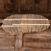 竹篦子竹蒸片家用蒸饃熱饅頭架子圓形無金屬柳釘塑料蒸鍋蒸架蒸格 滿天星