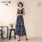 東京著衣-優雅花紋傘擺洋裝(181292)