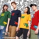 STAYREAL x Keith Haring 吠叫的狗多色T