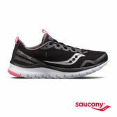 SAUCONY LITEFORM FEEL 輕運動休閒鞋款-黑x灰x粉紅