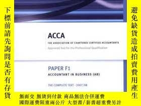 二手書博民逛書店F1罕見Accountant In Business Ab (acca Complete Text F1)Y2