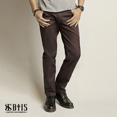【BTIS】帆布拼接長褲 / 咖啡灰色