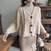 【Dear YN】回饋款 慵懶風秋冬毛衣開衫寬鬆針織外套女 嬌糖小屋
