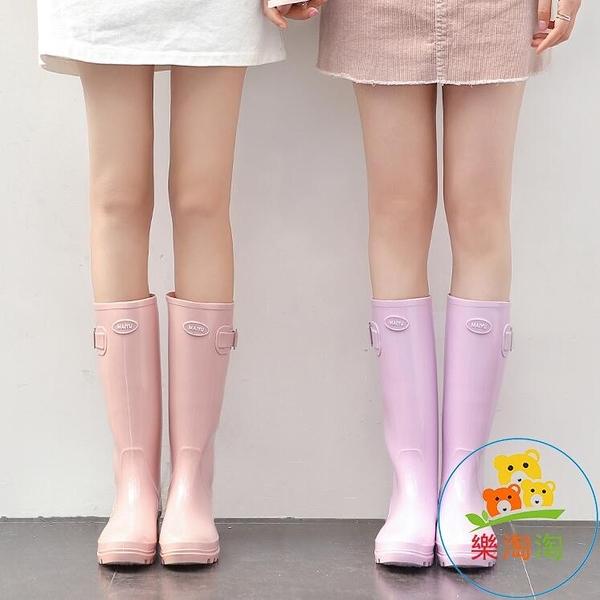 糖果色雨鞋女時尚高筒水靴水鞋可愛雨靴防滑樂淘淘